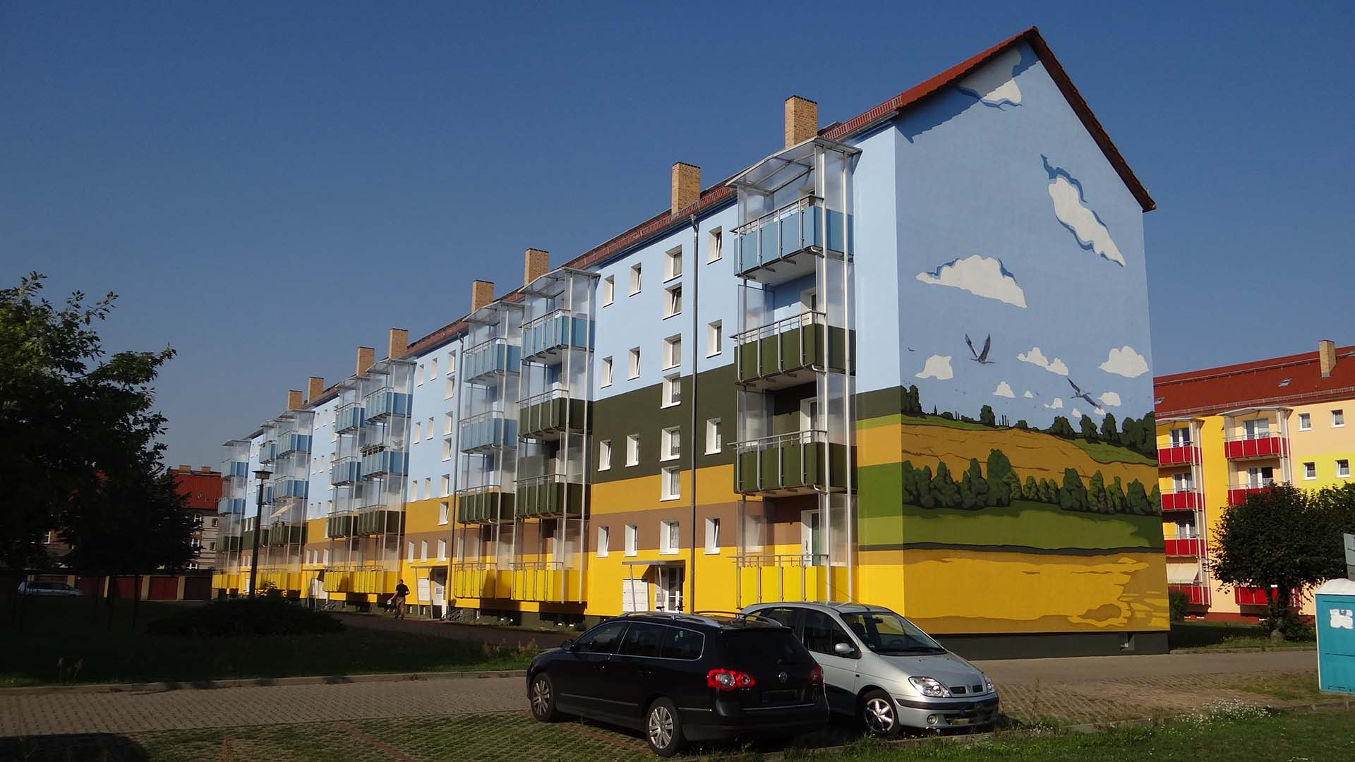 Fassadengestaltung – Tausenden Quadratmeter